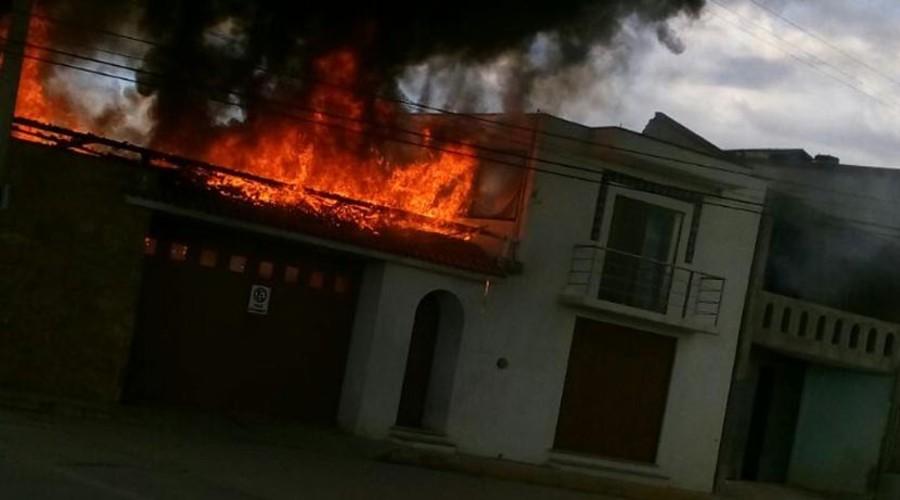 Arde vivienda en San Lorenzo Cacaotepec | El Imparcial de Oaxaca