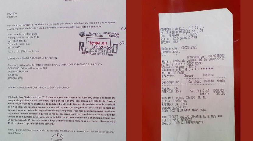 Ciudadano denuncia robo de gasolina en Oaxaca | El Imparcial de Oaxaca
