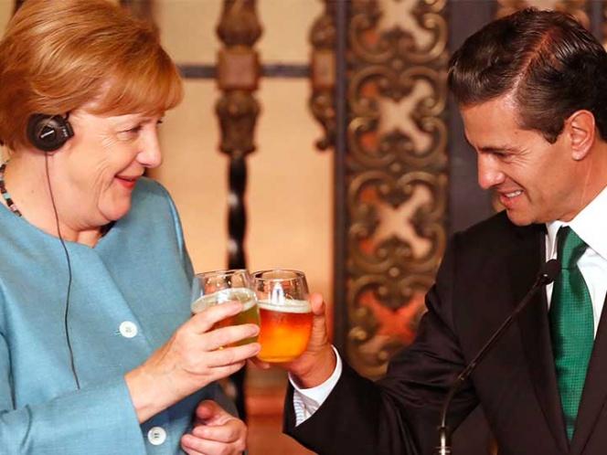 Participa Marco Mena en recepción oficial a Angela Merkel