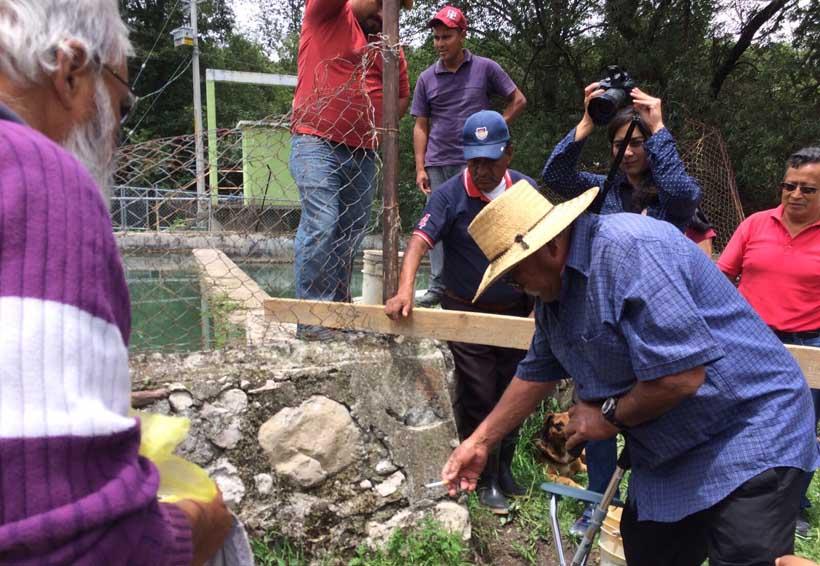En la Mixteca rehabilitarán tanque de captación de agua potable