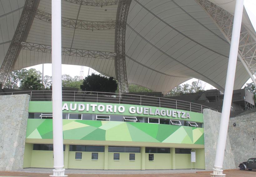 Majestuoso se erige el Auditorio Guelaguetza