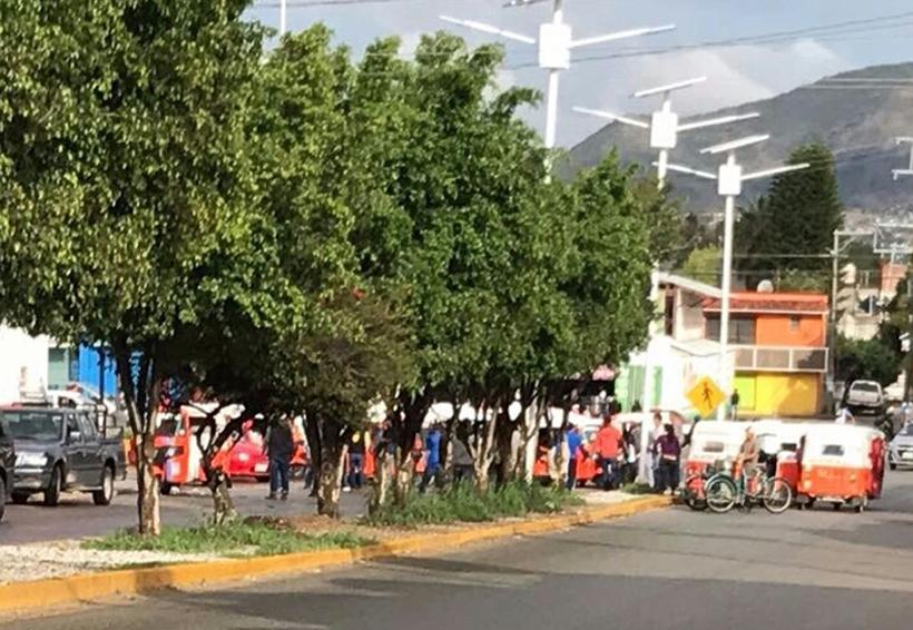 Gresca entre mototaxistas  en San Antonio de la Cal