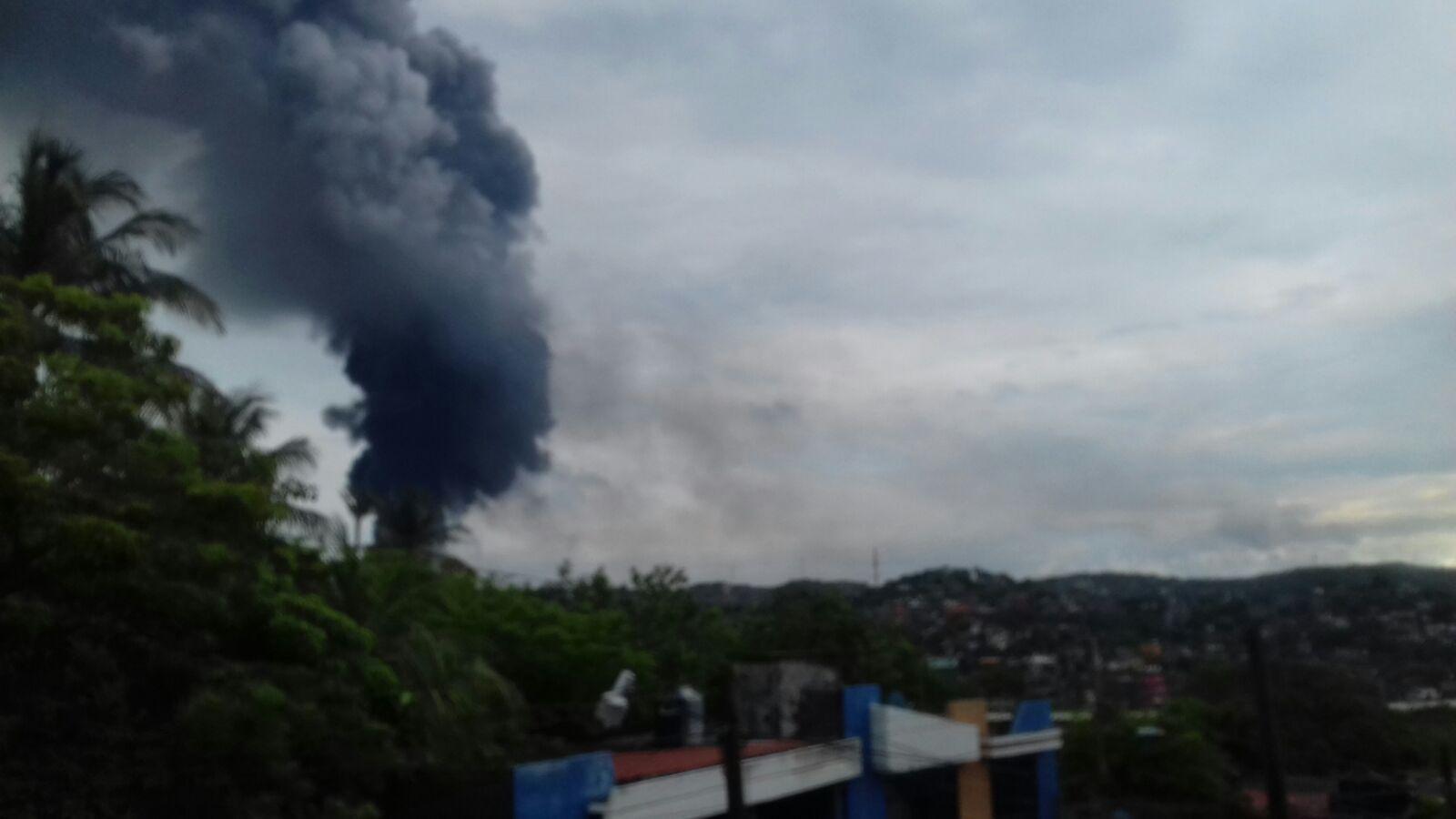 """Video: Incendio en la refinería """"Antonio Dovalí Jaime"""" de Salina Cruz."""