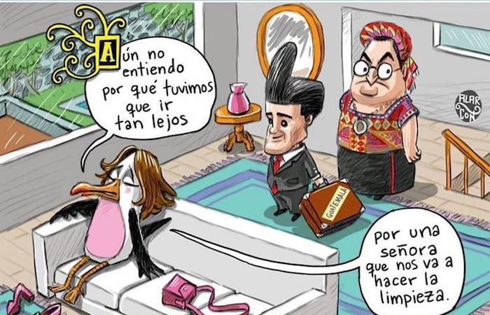 La Fundación Menchú condena caricatura