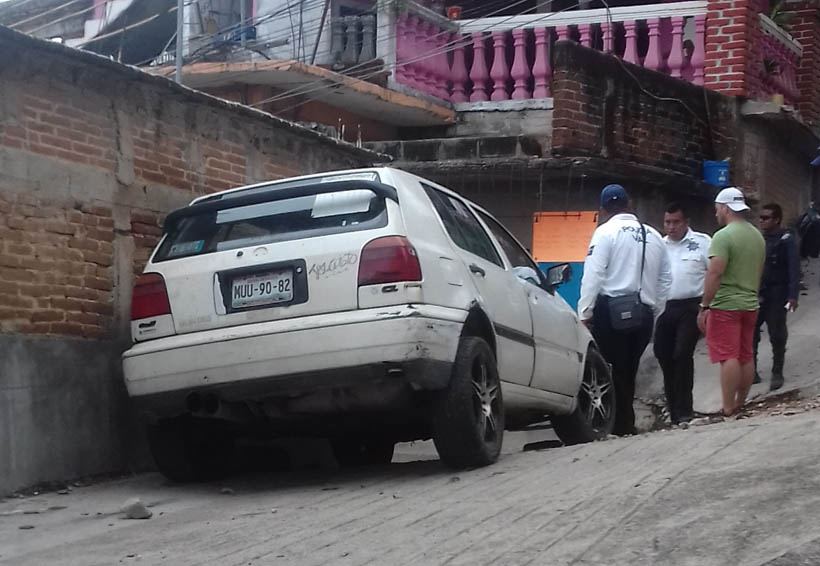 Se arma persecución por choque en Salina Cruz