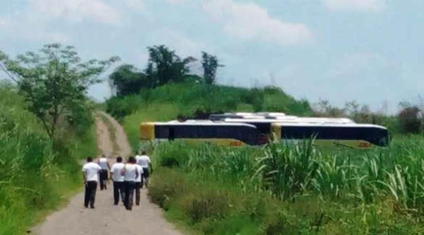 Abandonan cuatro autobuses robados en San Miguel Soyaltepec | El Imparcial de Oaxaca