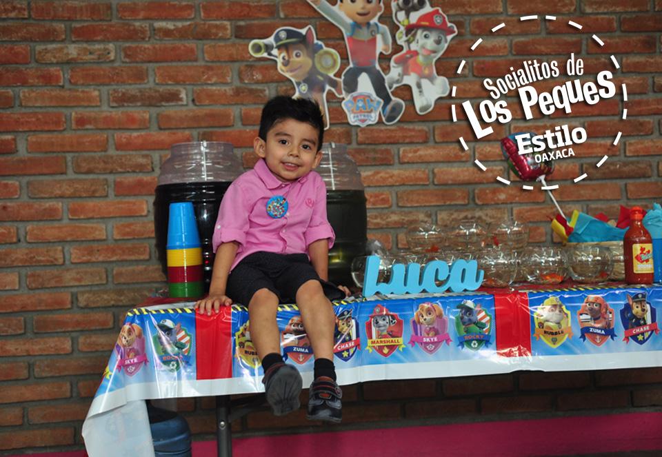 Luca René cumple 3 años