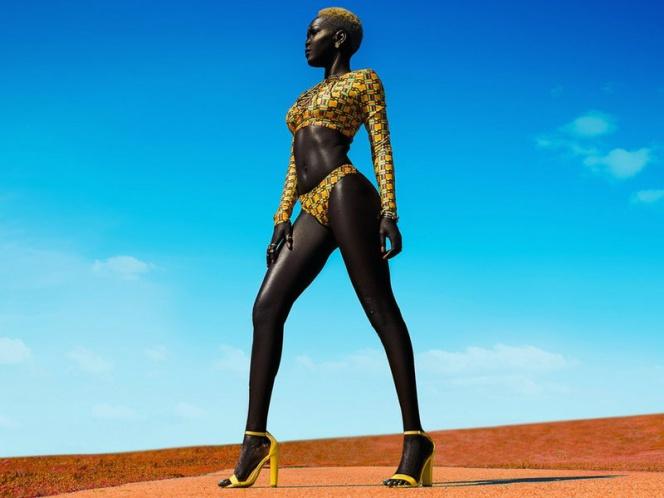 Nyakim Gatwec, la modelo con la piel más oscura del mundo