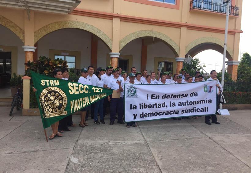 Protestan telefonistas en la Costa