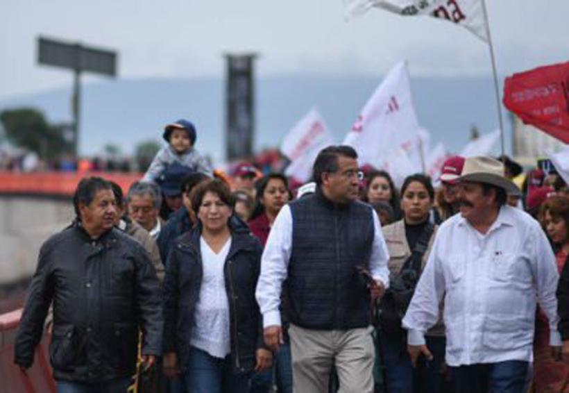 Apoya Armando Guadiana a Delfina Gómez en la Marcha por la Esperanza