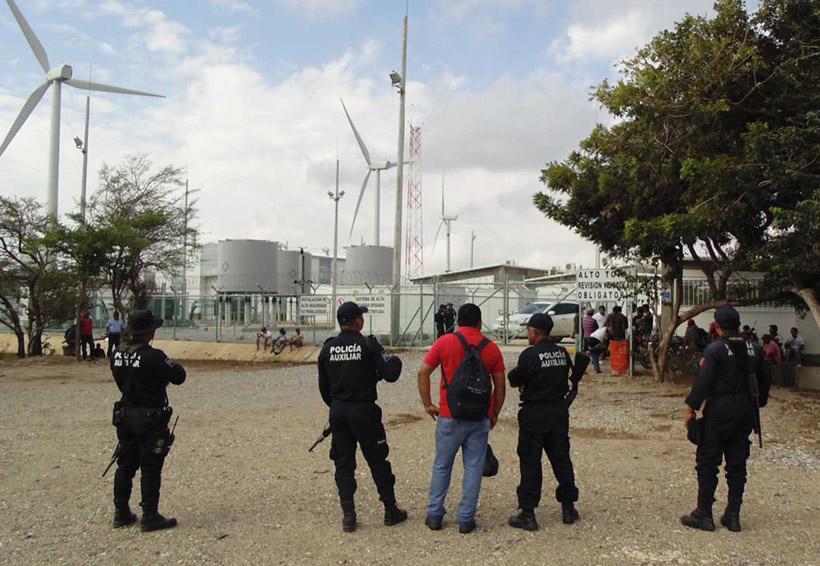 Arrestan a 15 manifestantes en el Parque Eólico BiíHioxo