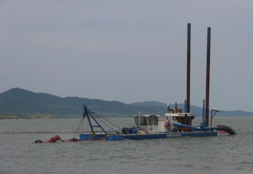 Apoyan construcción de muelle en San Dionisio del Mar
