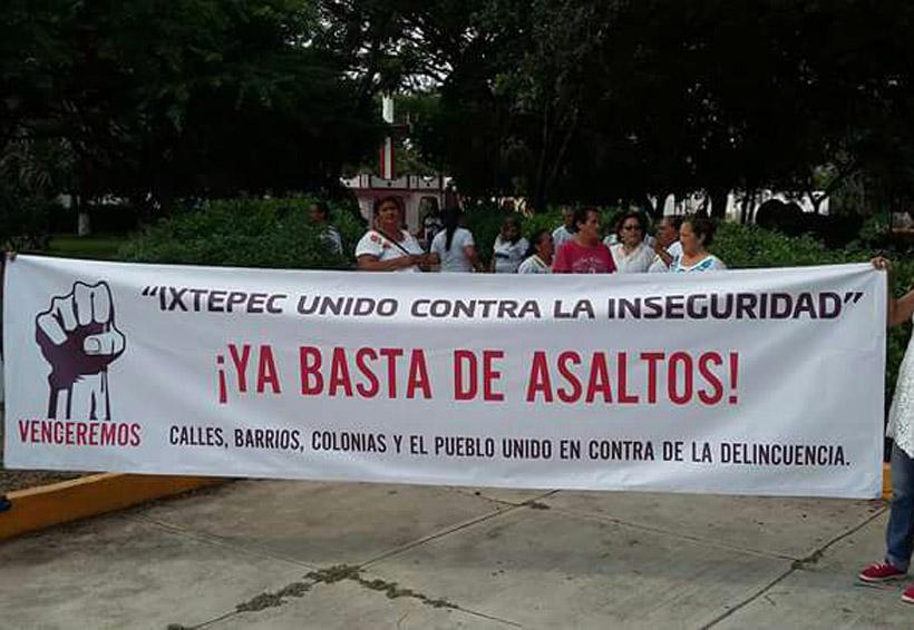 Piden seguridad en Ciudad Ixtepec