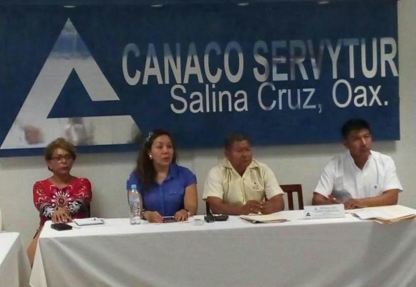 Tensión en la CANACO de Salina Cruz