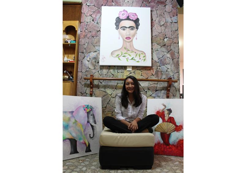 María Fernanda, la pintura por pasión