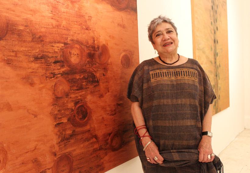Pasajes naturales recreados  por la pintora Irma Palacios