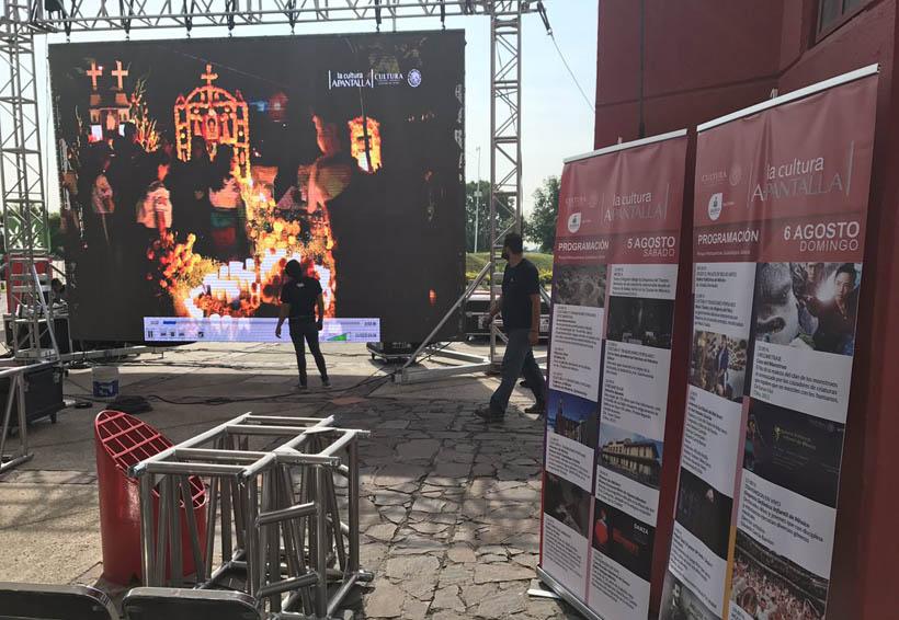 Amplían oferta cultural en Oaxaca, pero en pantalla gigante