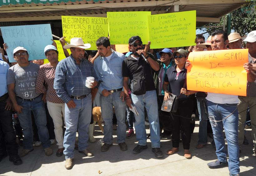 Habitantes de la Vicente Guerrero exigen la renuncia del titular de SSP de Oaxaca | El Imparcial de Oaxaca