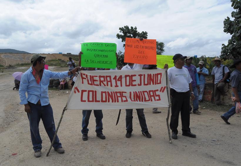 Bloqueada Ciudad Judicial por colonos de la Vicente Guerrero