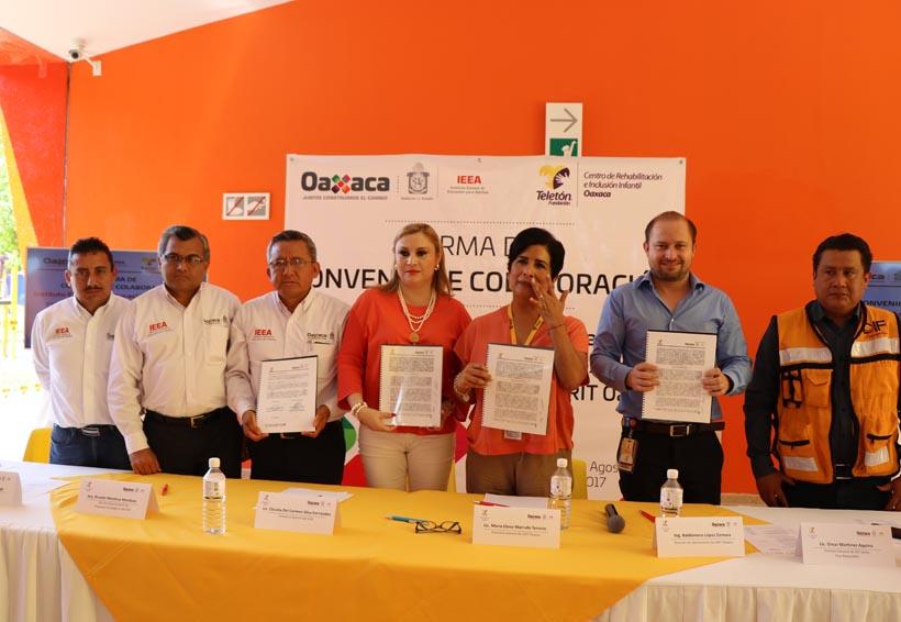 Firma IEEA convenio de colaboración con Fundación Teletón México A.C. | El Imparcial de Oaxaca