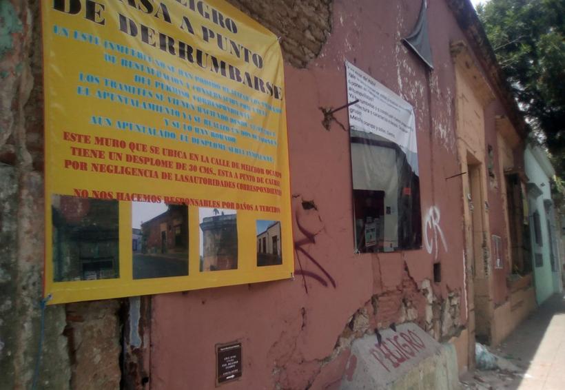 Denuncian negligencia en Oaxaca; temen un derrumbe
