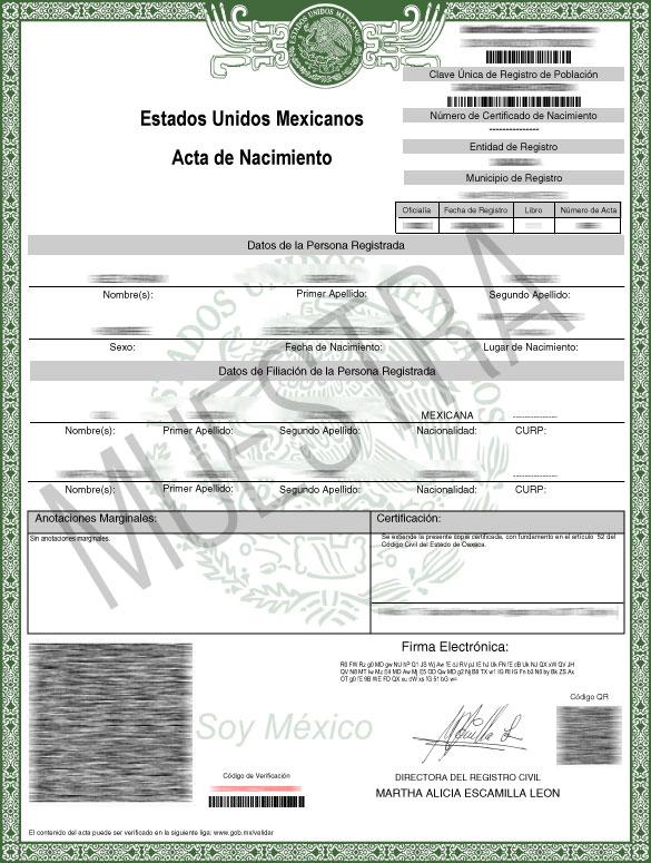 En Oaxaca se pueden imprimir en línea las actas de nacimiento |