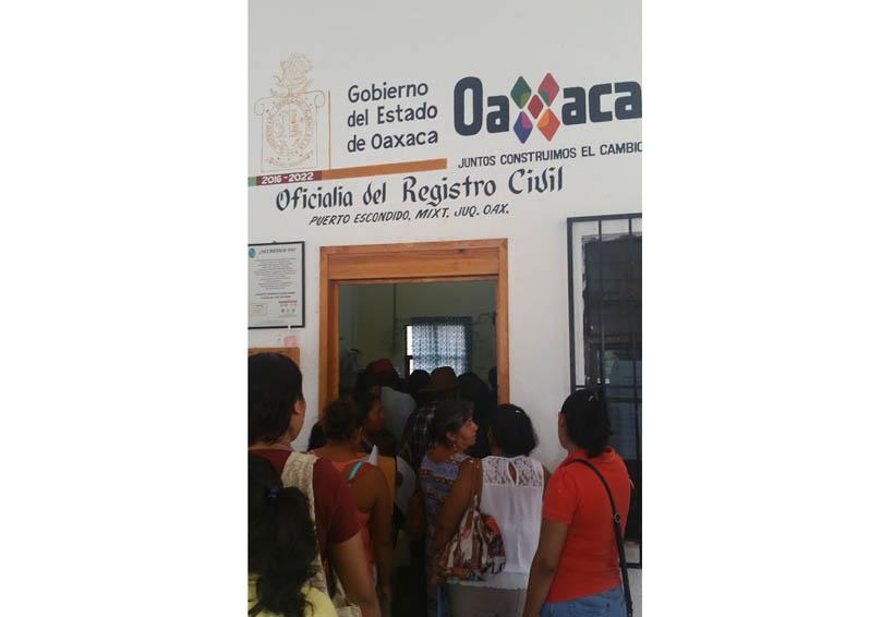 Acusan anomalías en el Registro Civil de Puerto Escondido  