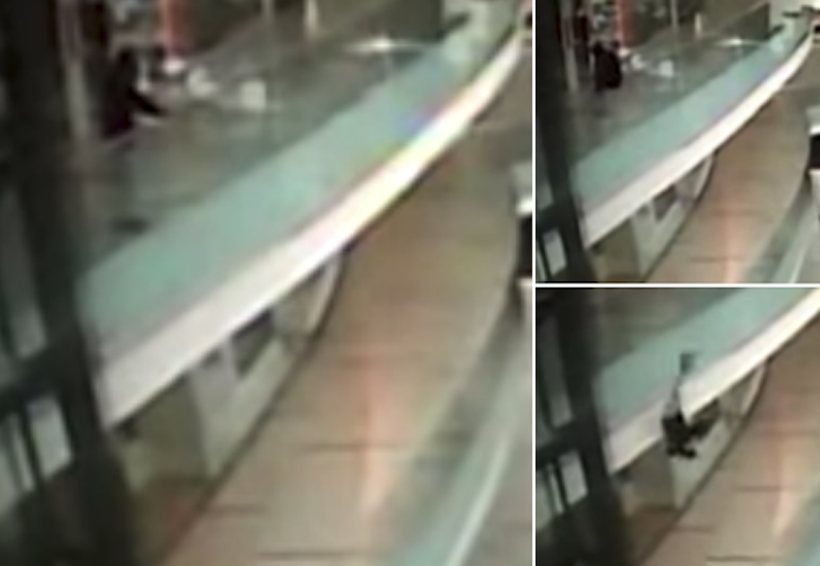 Video: Se sienta en el barandal de centro comercial, pierde el equilibrio y cae fatalmente | El Imparcial de Oaxaca