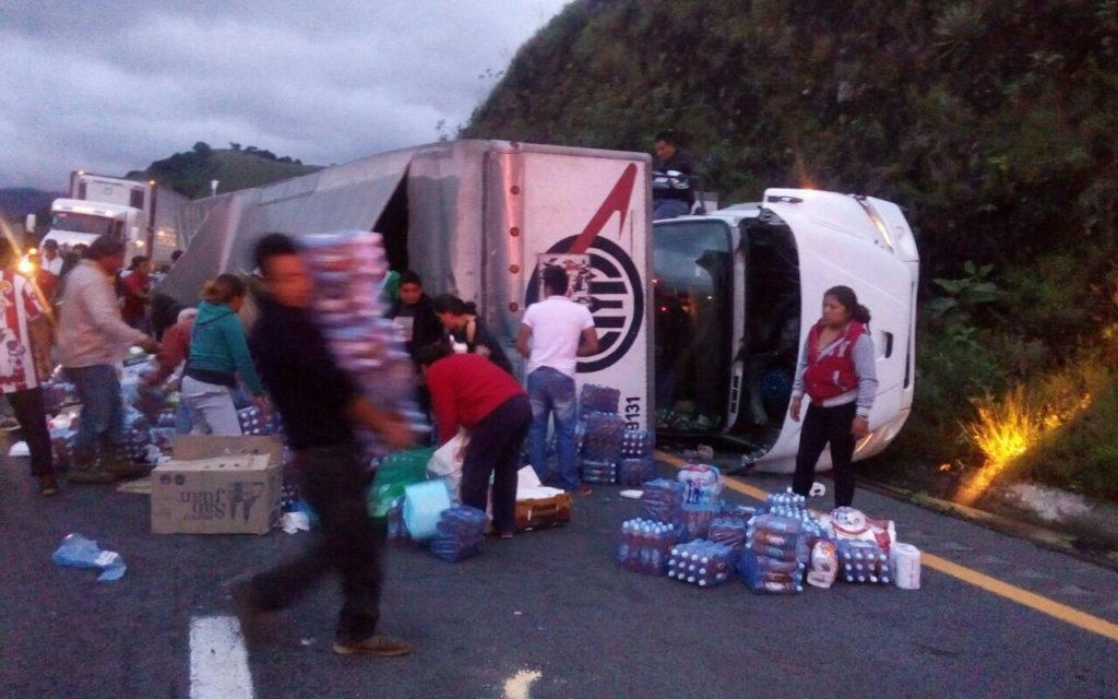 Saquearon camión con ayuda humanitaria