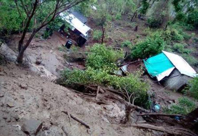 Tres muertos por las lluvias en Oaxaca esta madrugada