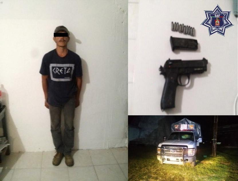 Les caen con pistola  y vehículo robado en Huajuapan de León, Oaxaca | El Imparcial de Oaxaca