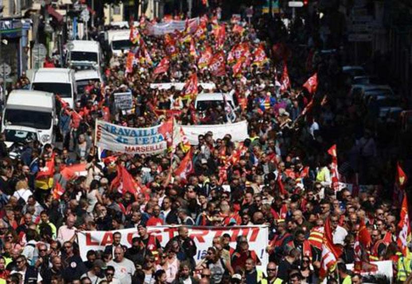 En Francia protestan contra reforma laboral de Macron | El Imparcial de Oaxaca
