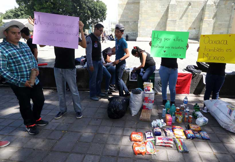 Exigen no lucrar con desgracias del pueblo de Oaxaca