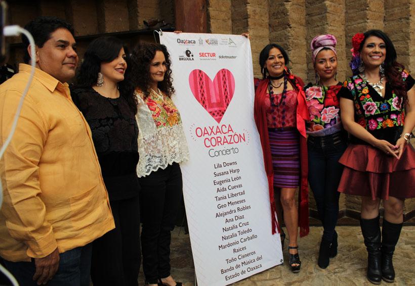 Artistas unen voces por damnificados con 'Oaxaca Corazón'
