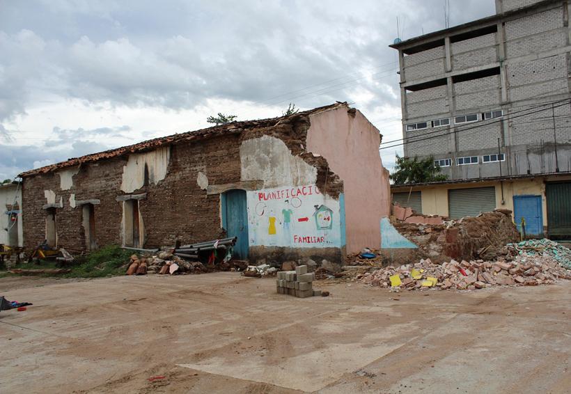 Tacache de Mina con fuertes daños