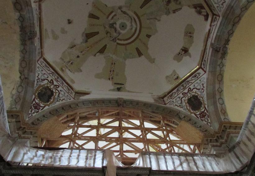 Reportan daños a templos de Oaxaca