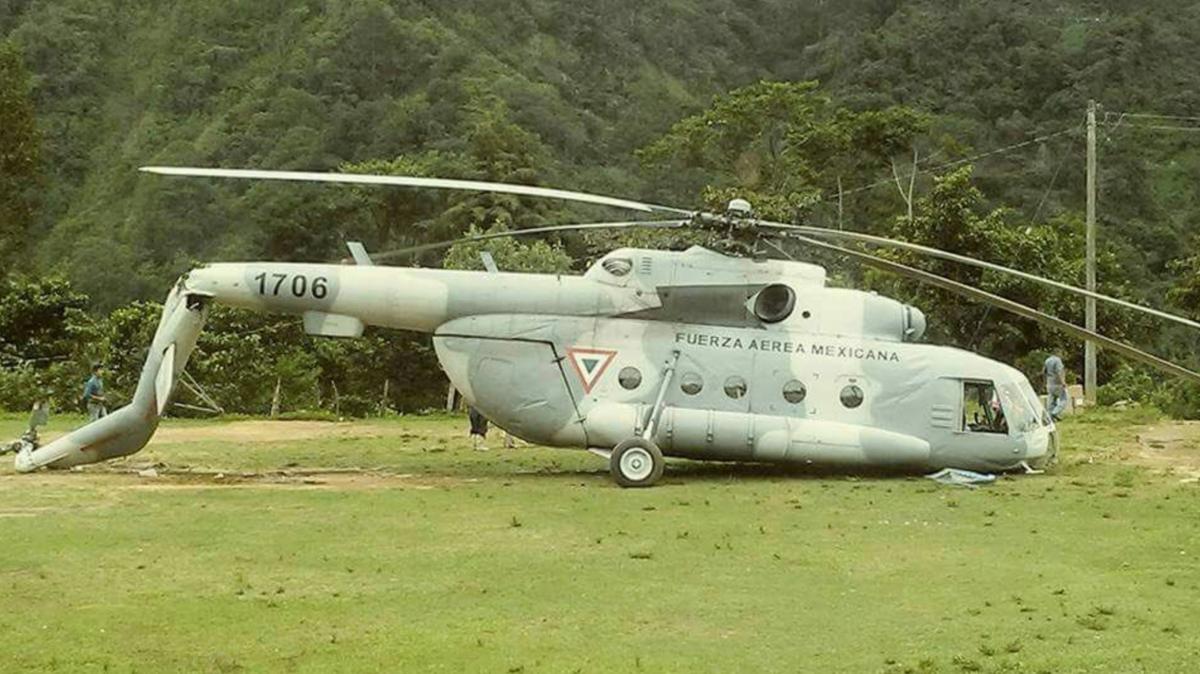Sobrevive tripulación de helicóptero accidentado que transportaba víveres | El Imparcial de Oaxaca