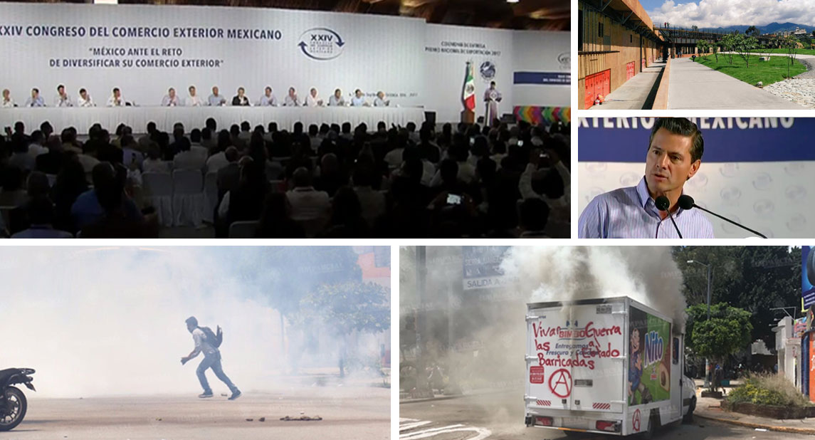 El contraste al interior y al exterior del Centro de Convenciones de Oaxaca | El Imparcial de Oaxaca
