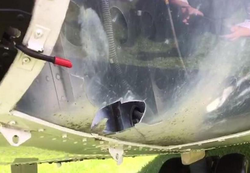 Cohetón impacta en helicóptero de prensa de Presidencia de la República | El Imparcial de Oaxaca