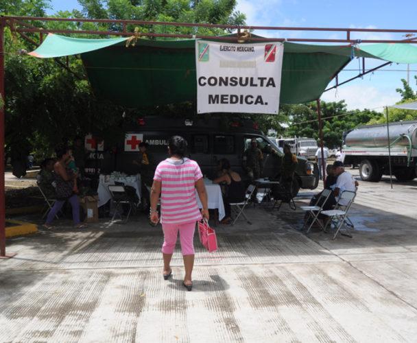 Instalan 11 nuevos albergues tras sismos en el Istmo de Oaxaca