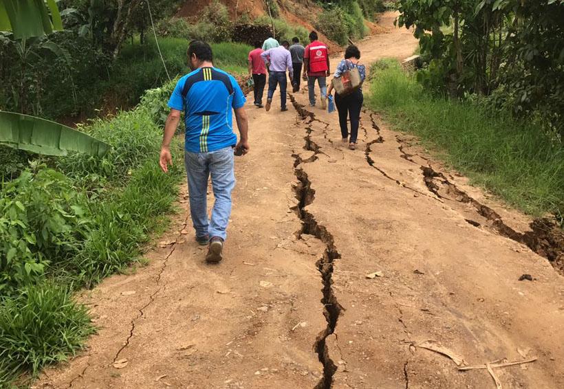 Continúan trabajos tras sismo en Los Naranjos Esquipulas, Oaxaca | El Imparcial de Oaxaca