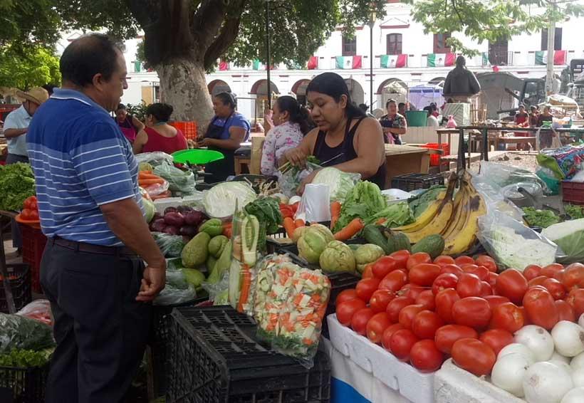 Comerciantes del Istmo convierten el parque en su mercado | El Imparcial de Oaxaca