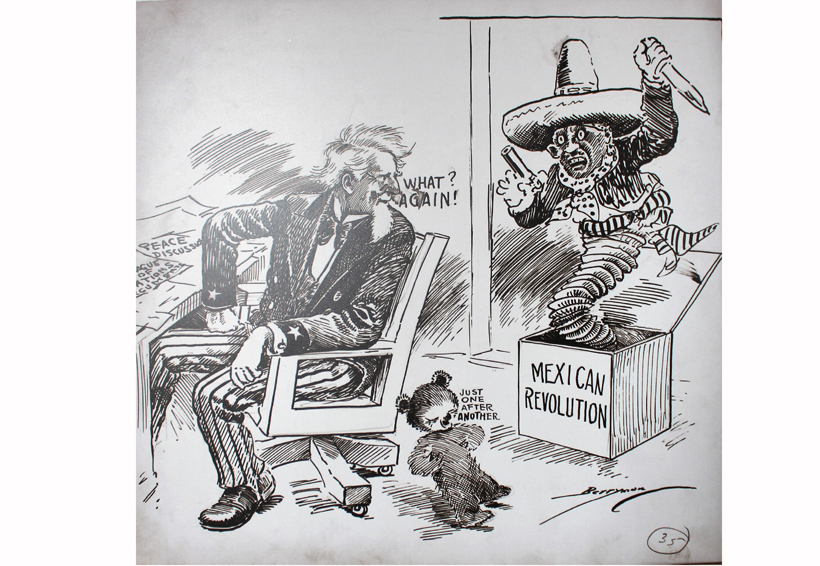 Una mirada racista, la de 45 caricaturas sobre México