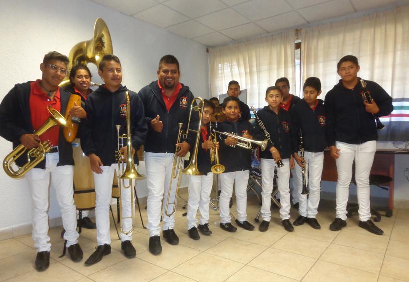 50 años de la banda de música de viento en Tecolotitlán, Oaxaca