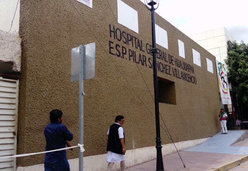 Hospital de Huajuapan con daños menores