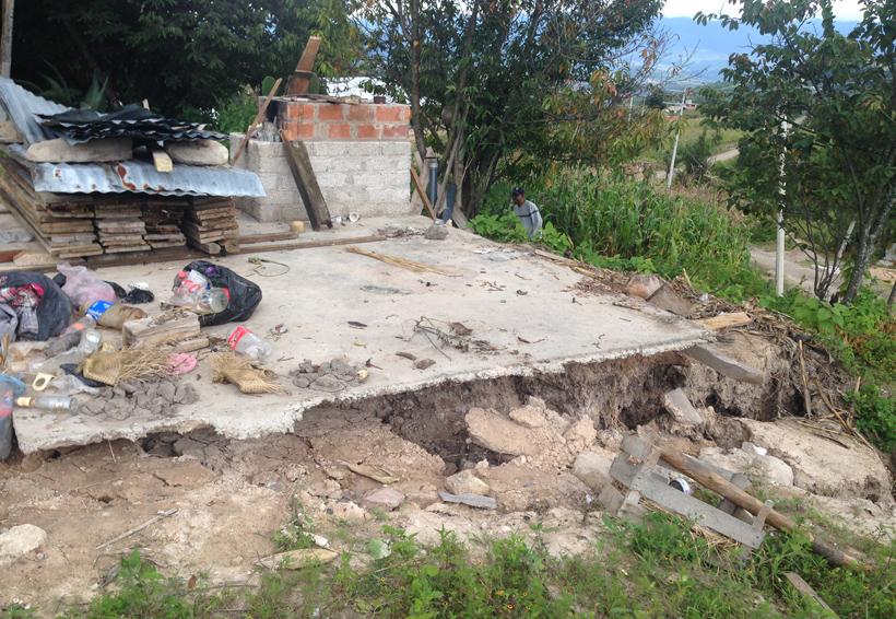 Magdalena Peñasco entre hundimientos, albergue y hogares evacuados