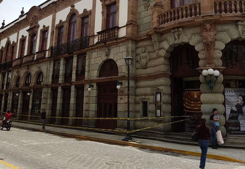 En Oaxaca afectados, los Teatros Macedonio Alcalá y Juárez