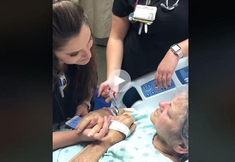 Video: Enfermera que le canta a paciente en su lecho de muerte | El Imparcial de Oaxaca