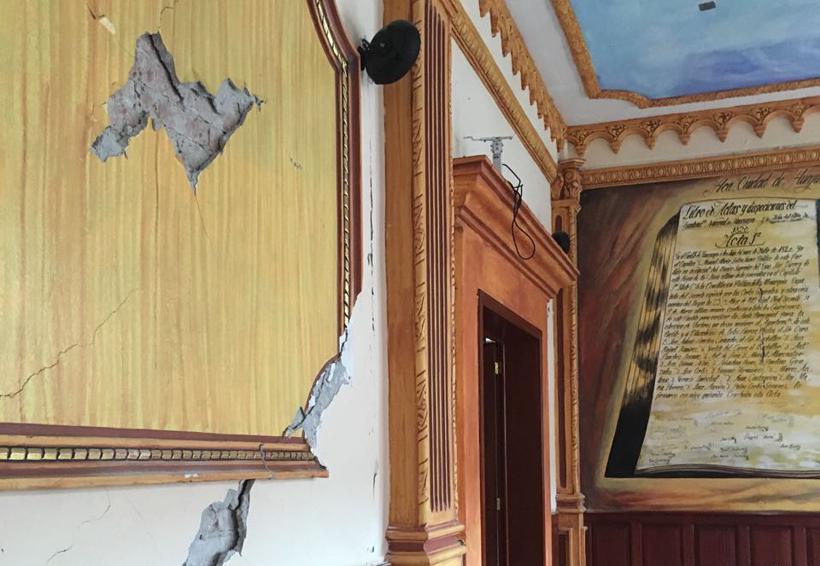 Demolerán parte del  Palacio Municipal de Huajuapan de León, Oaxaca