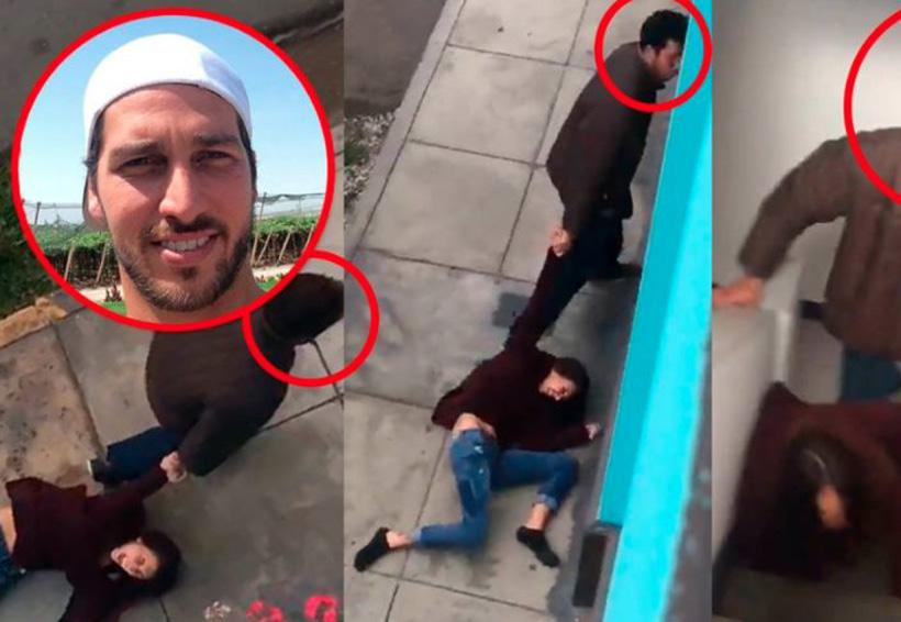 Video: Un hombre es grabado por su vecina cuando arrastraba a su pareja por la calle | El Imparcial de Oaxaca
